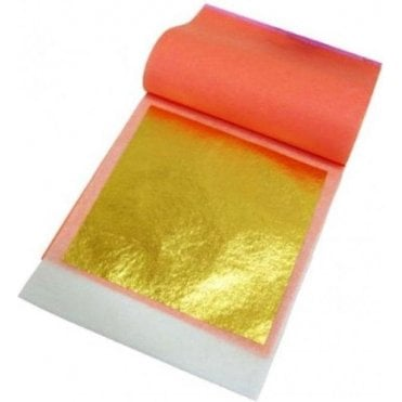25 Count, Original 24K 100% Edible Gold Leaf Transfer Sheets - Premium Quality