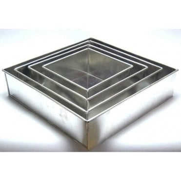 "4 Tier - Square 4"" Deep - Baking Tin - Cake Pan - Set of 4"