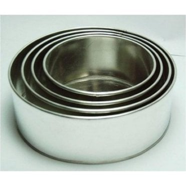 "6"", 8"", 10"", 12"", Round 4"" Deep - Baking Tin - Cake Pan - Set of 4"