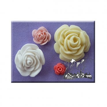 4 in 1 Roses Silicone Mould