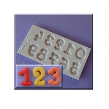 Cartoon Numbers Silicone numbers