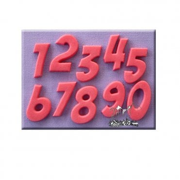 Comic Book Font Numbers Silicone Mould