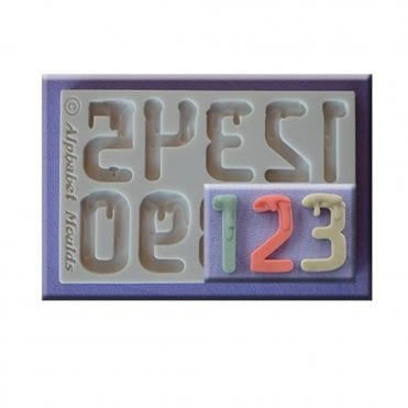Dripping Font Numbers Silicone Mould
