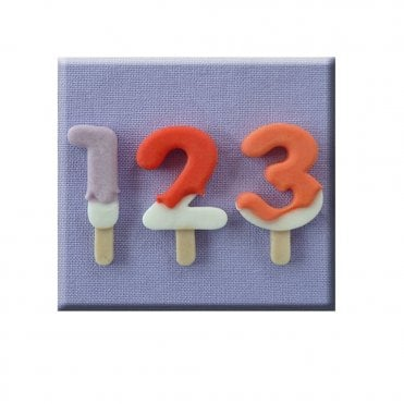 Lolly Numbers Silicone Mould