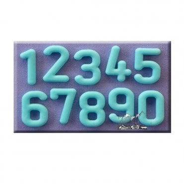 Rounded Font Numbers Silicone Mould