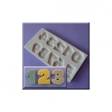 Textured Numbers Silicone Moulds
