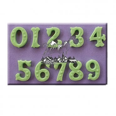 Zebrawood Decorative Numbers Silicone Moulds