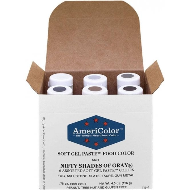 Americolor 0.75oz Soft Gel Paste™ Colour - Nifty Shades of Grey
