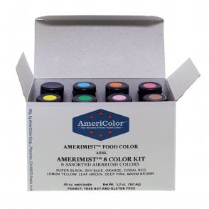 Amerimist Set of all 8 Colour Kit - Airbrush Colours 0.65oz