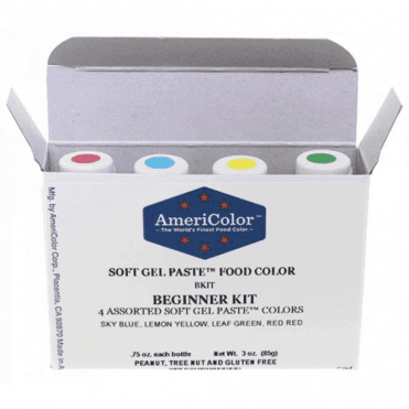 Beginner Kit - Soft Gel Paste Colour 0.75oz