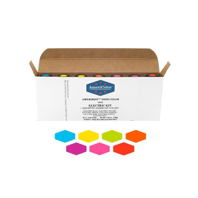Americolor Electric Kit of all 7 colours - AmeriMist Airbrush Colouring 0.65oz