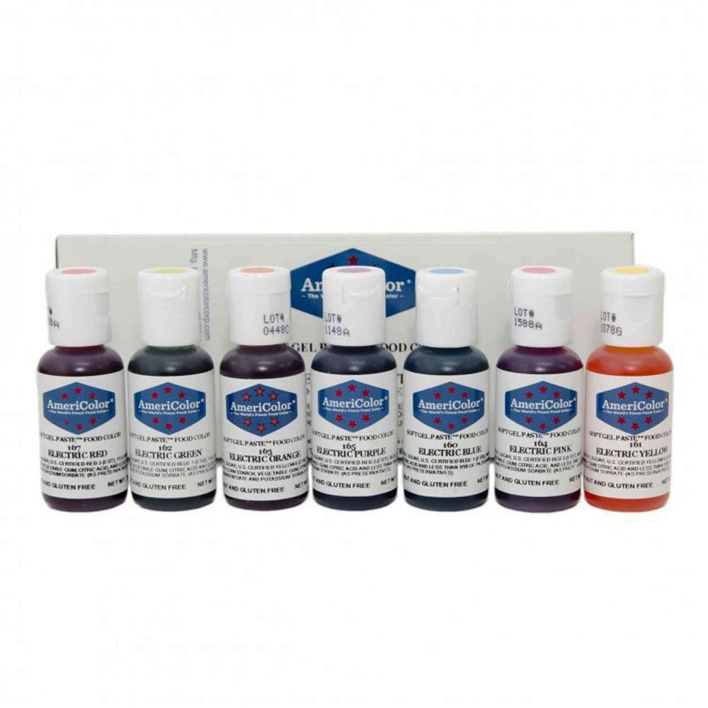 Electric Kit of all 7 colours - Soft Gel Paste Colouring 0.75oz
