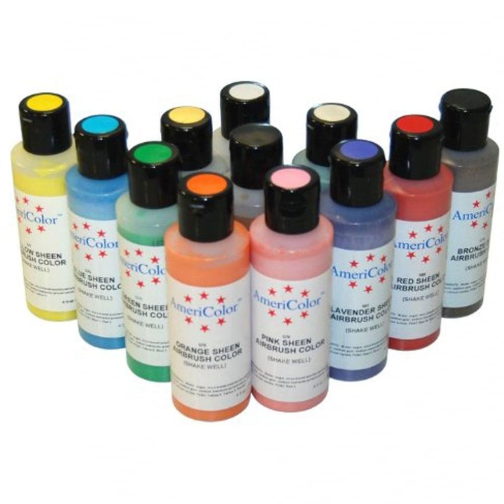 Full Set of 12 - Sheen AmeriMist Airbrush Colour - 4.5oz Bottles