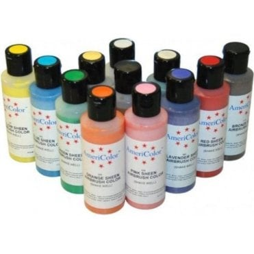 Full Set of 12 - Sheen AmeriMist Airbrush Colour - 4.5oz Bottles