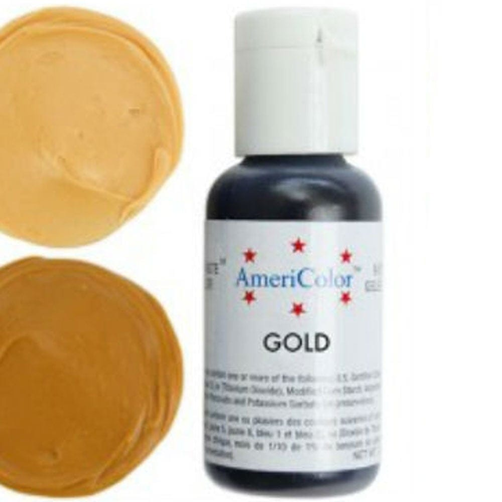 Americolor - GOLD - Soft Gel Paste Icing Food Colouring 4.5oz