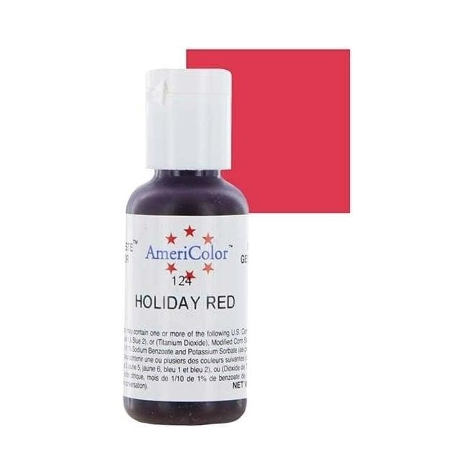 Americolor Holiday Red - Soft Gel Paste Food/Icing/Buttercream Colouring