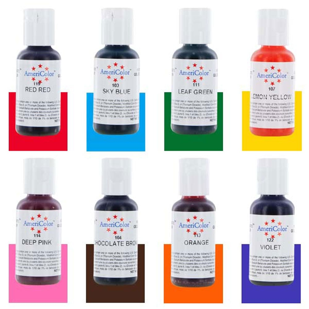 Food Coloring AmeriColor Student - Kit 3 12 .75 Ounce Bottles Soft ...
