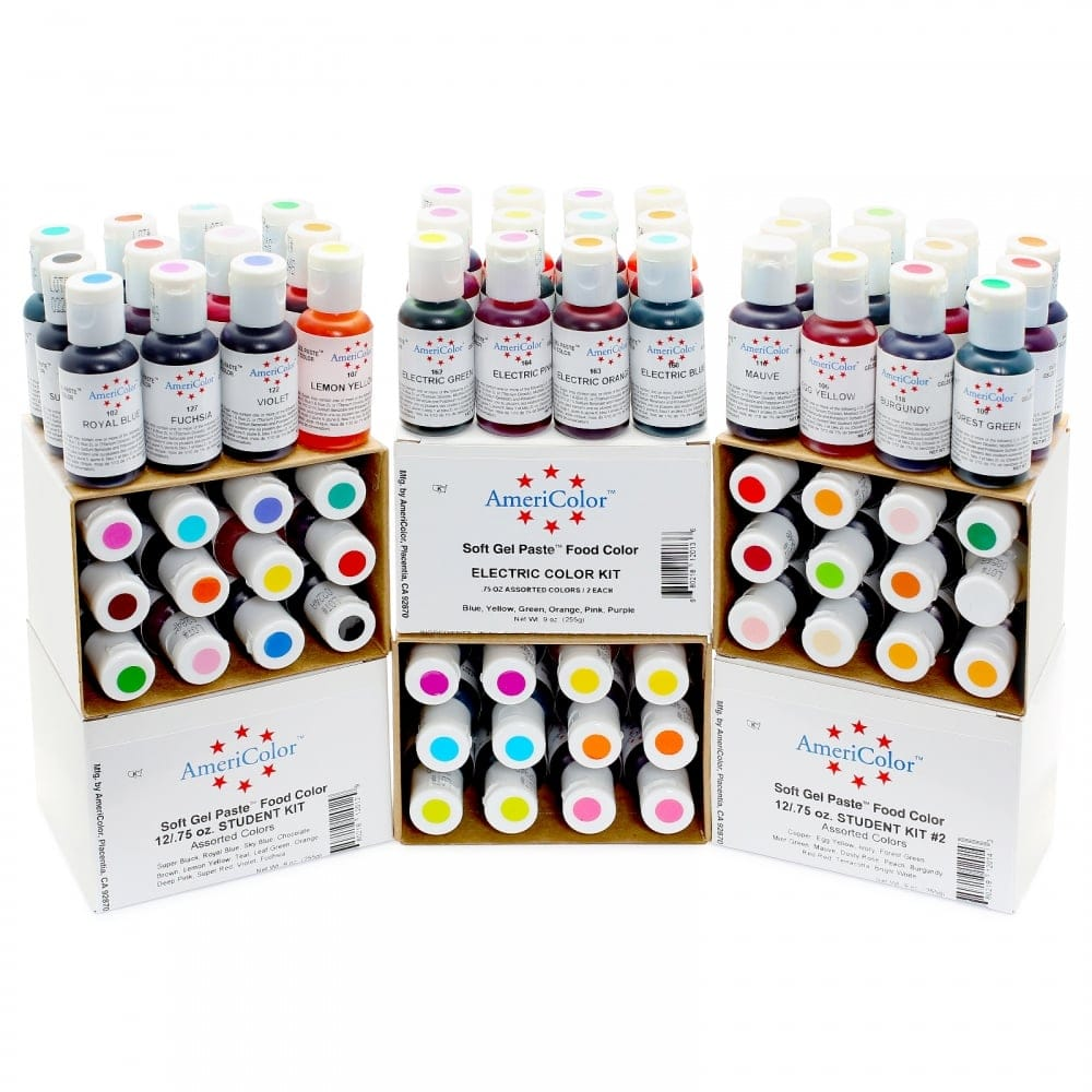 Americolor - MAROON - Soft Gel Paste Icing Food Colouring 4.5oz