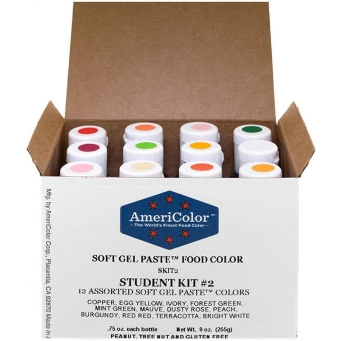 Americolor Student Kit 2 - Soft Gel Paste䋢 Colour 0.75oz