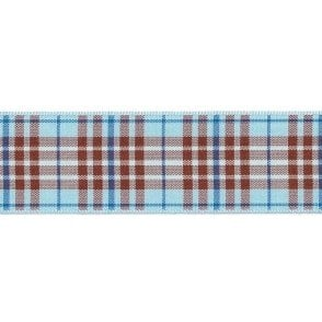 Blueberry Tartan Cake Ribbon - available by the metre