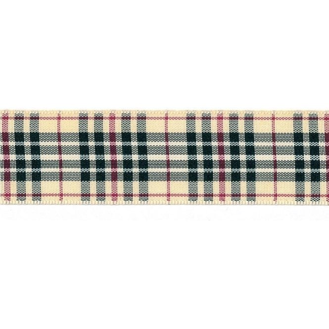 Berisford Ribbon Burberry Tartan Cake Ribbon - available by the metre