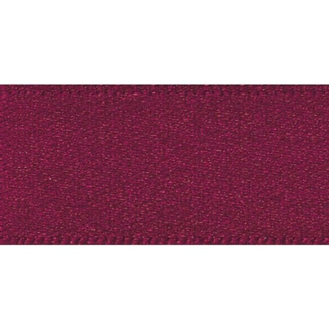 Berisford Ribbon Burgundy - Double Faced Satin Cake Ribbon - available by the metre