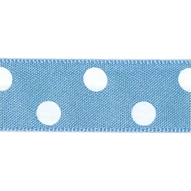 Berisford Ribbon Conflour with White Polka Dots - Double Faced Cake Decorating Satin Ribbon - by the metre