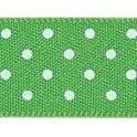 Berisford Ribbon Meadow with White Polka Dots - Double Faced Satin Cake Ribbon - by the metre