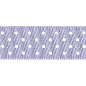 Orchid with White Micro Polka Dots - Double Faced Satin Cake Ribbon - by the metre