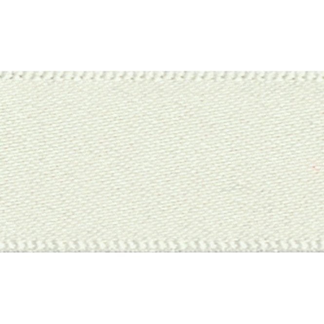 Berisford Ribbon Pearl White Double Faced Satin Cake Ribbon - available by the metre