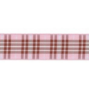 Raspberry Tartan Cake Ribbon - available by the metre