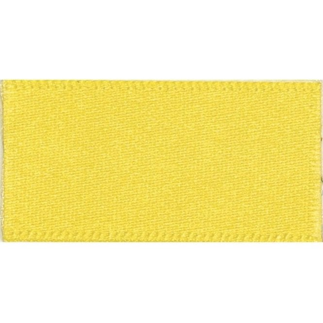 Berisford Ribbon Yellow - Double Faced Satin Cake Ribbon - available by the metre