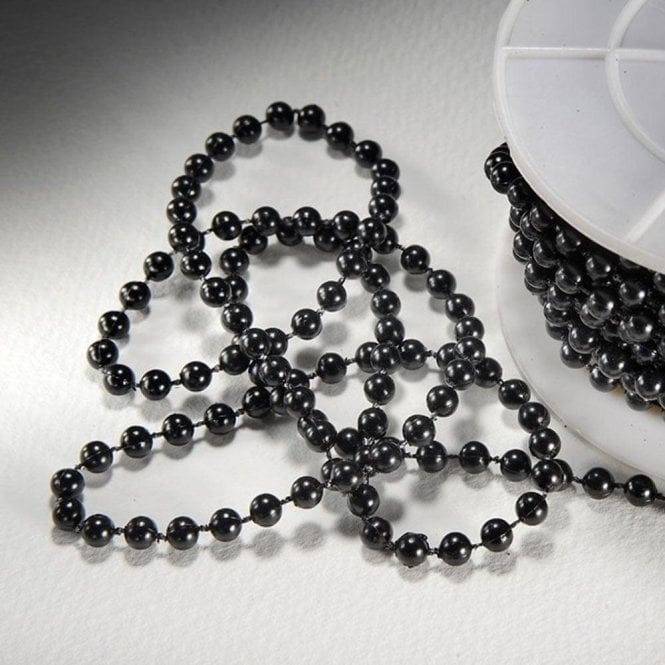 Black - 5mm Pearls on Reel - available by the metre