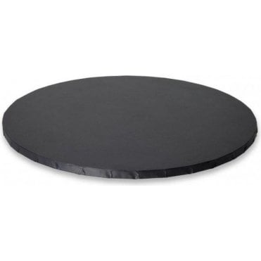 "12"" MATT BLACK Round Masonite (MDF) Cake Board Drum"