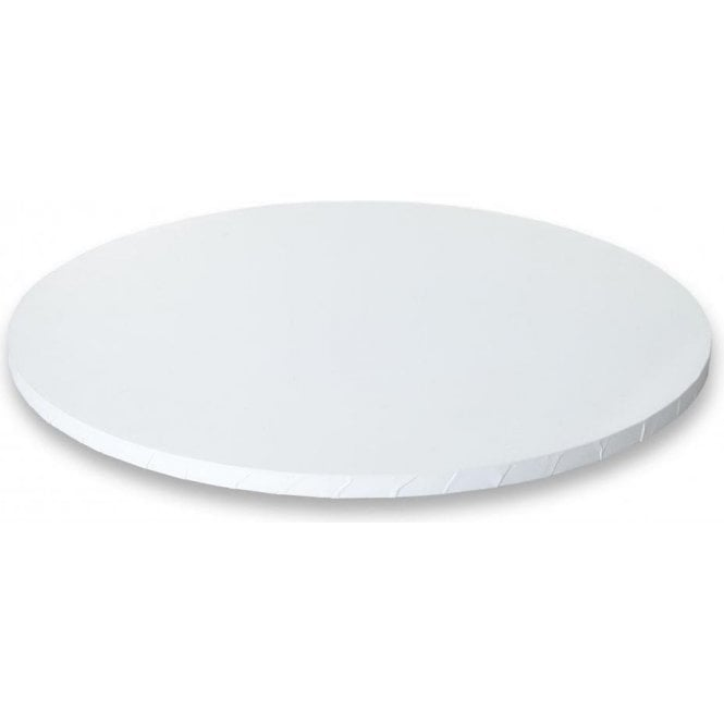 "Cake Craft Company 12"" MATT WHITE Round Masonite (MDF) Cake Board Drum"