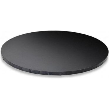 "14"" GLOSSY BLACK Round Masonite (MDF) Cake Board Drum"