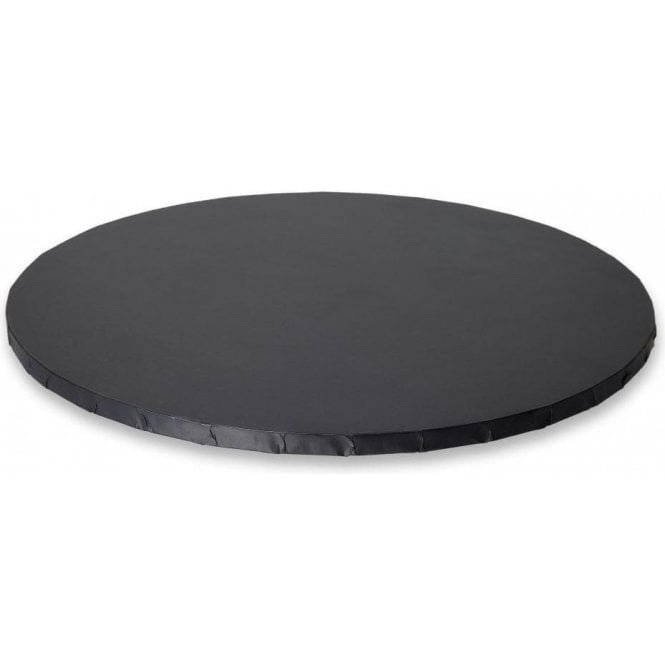 "Cake Craft Company 16"" MATT BLACK Round Masonite (MDF) Cake Board Drum"