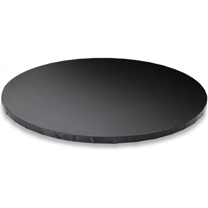 "Cake Craft Company 8"" GLOSSY BLACK Round Masonite (MDF) Cake Board Drum"