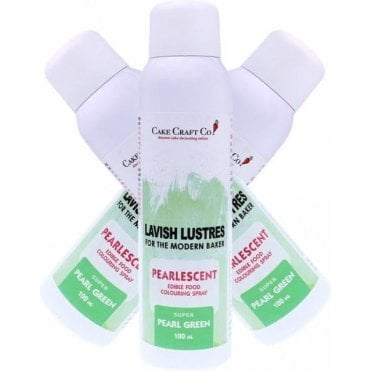 Green - 'Lavish Lustre' Edible Food Colouring Pearlised Decorating Spray 100ml