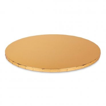 GOLD Mirror Round Premium Masonite (MDF) Cake Board Drum 10mm
