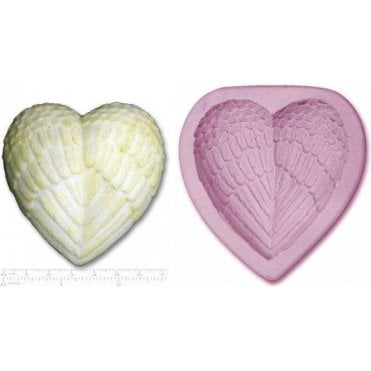 Angel Heart Wings - Cake Decorating Silicone Mould