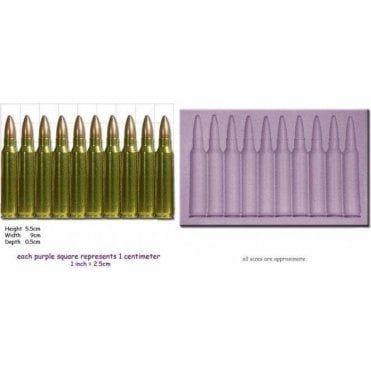 Bullet Border - Cake Decorating Silicone Mould