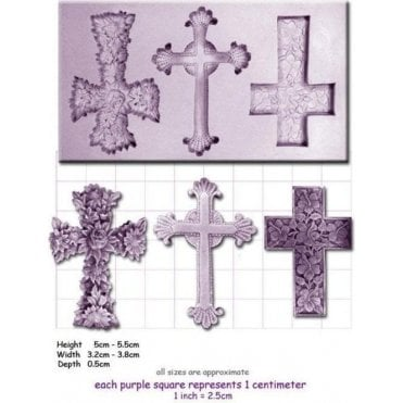 Crosses - Cake Decorating Silicone Mould