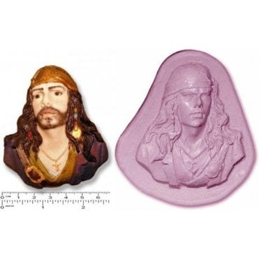 Jack Sparrow/Pirates of the Carribean - Cake Decorating Silicone Mould
