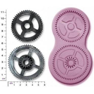 Large Steampunk Cogs & Gears - Cake Decorating Silicone Mould