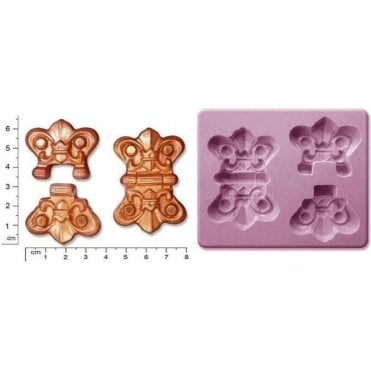 Large Steampunk Hinges - Cake Decorating Silicone Mould