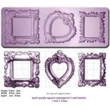 Ornate Frames - Cake Decorating Silicone Mould