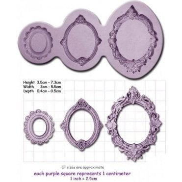Oval Frames - Cake Decorating Silicone Mould