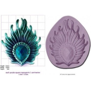 Peacock Feather Brooch - Cake Decorating Silicone Mould
