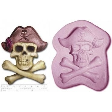 Pirate Skull & Bone - Cake Decorating Silicone Mould